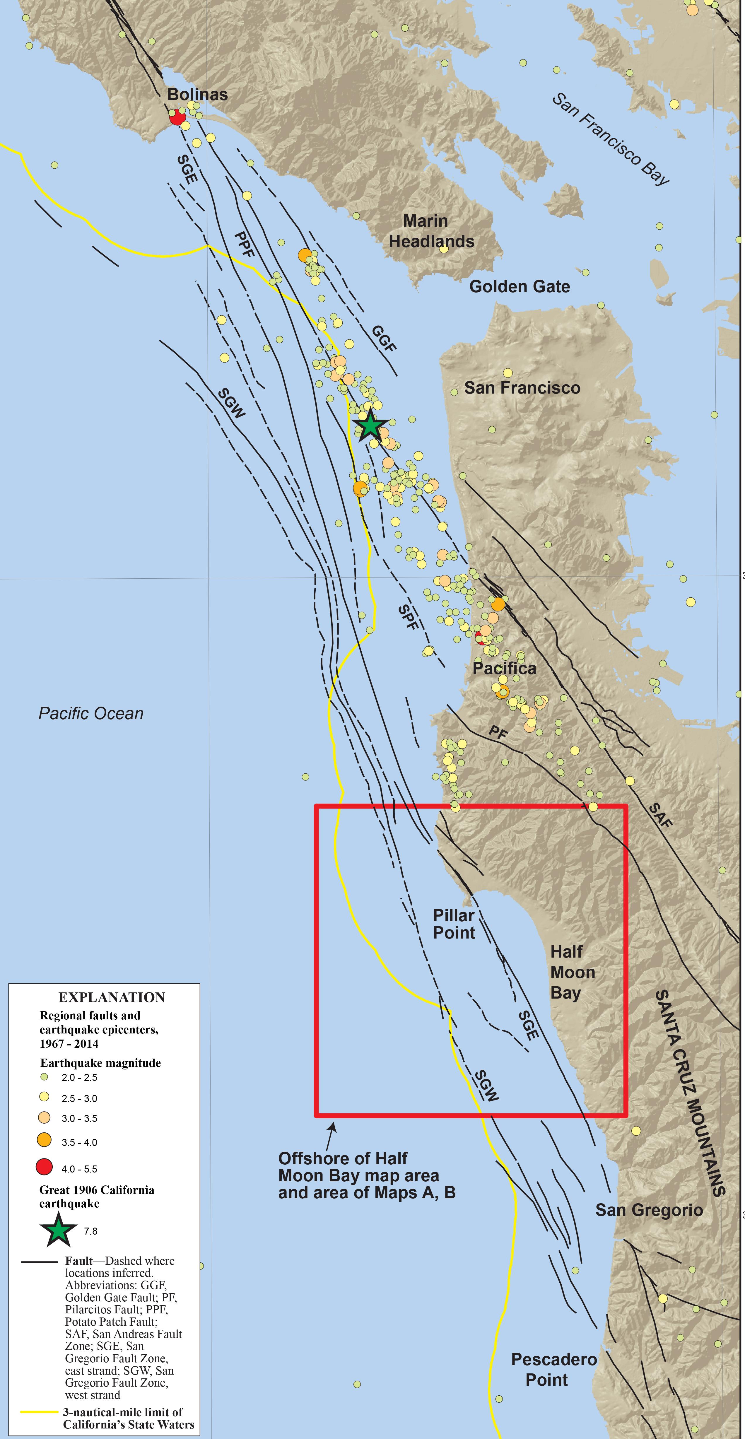 San Jose Earthquake Map Usgs San Francisco