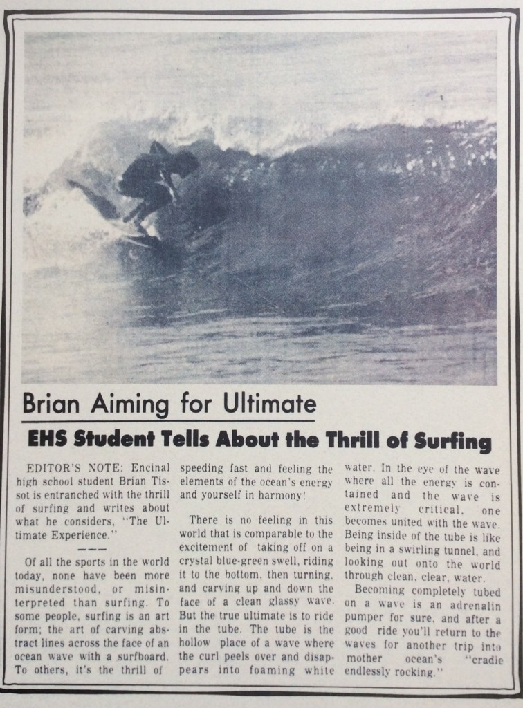 Article I Wrote in High School Published in the Alameda Sun in 1974