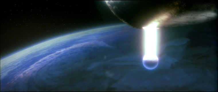 Alien probe searches for intelligent life: Whale Song. From Star Trek IV: The Voyage Home.