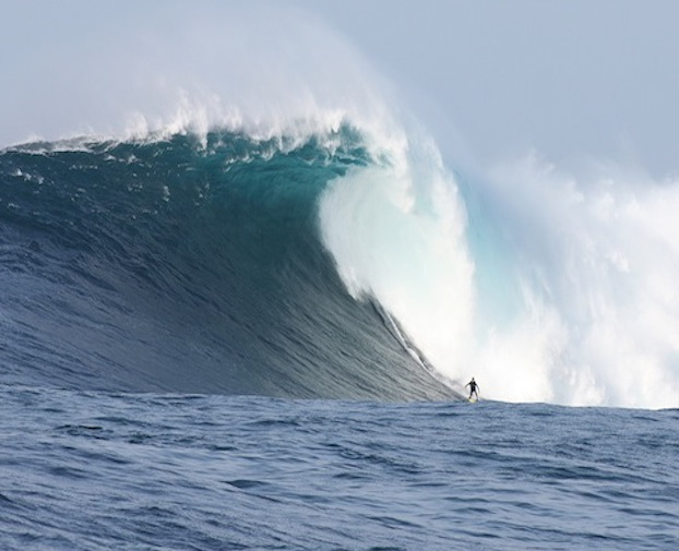 Surfer 70 foot wave