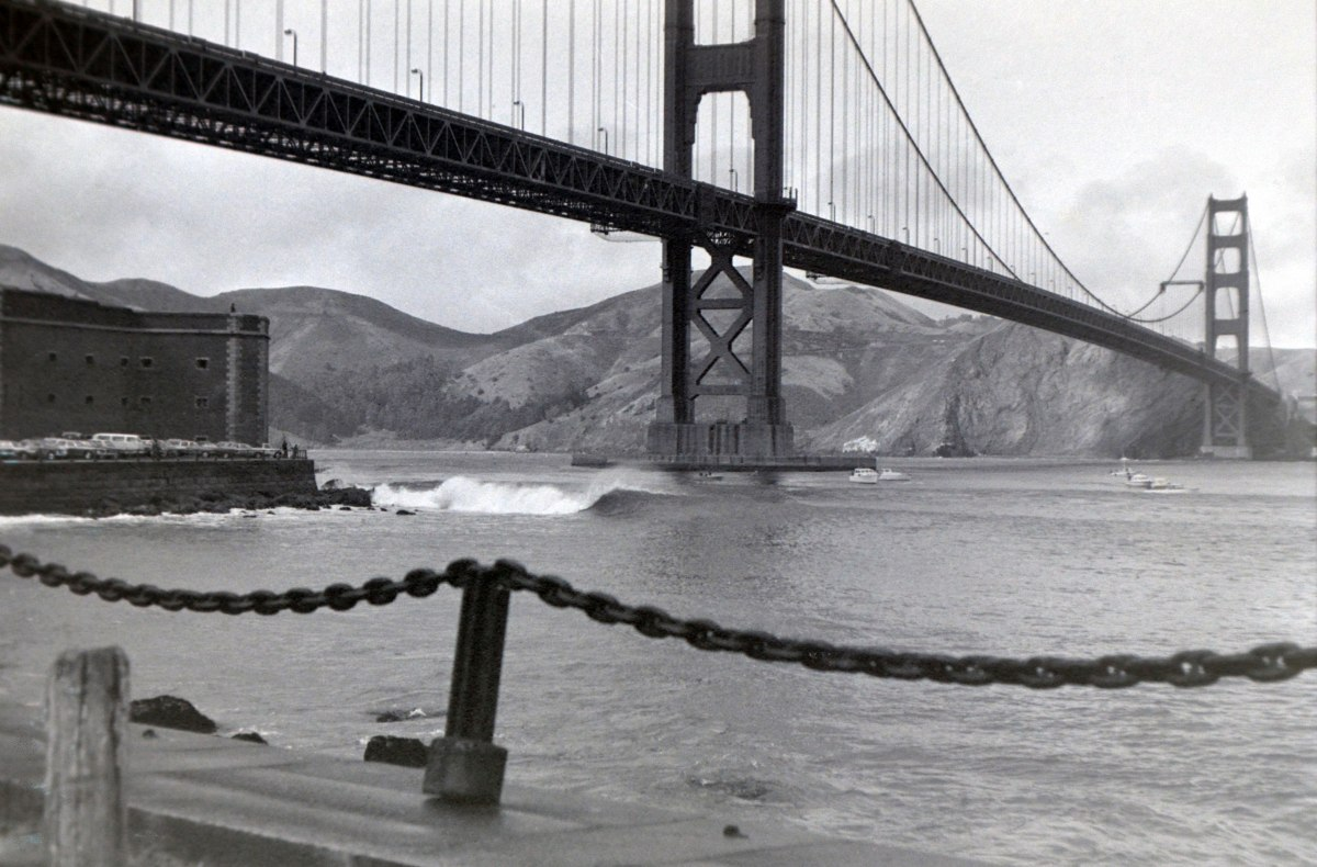 Getting Busted Surfing at Fort Point, 1973