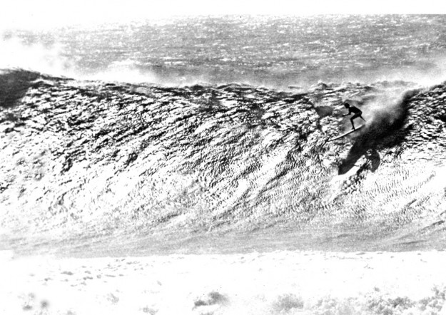 "According to Alby Falzon, this photograph, captures Greg Noll's legendary ""undocumented"" wave. Photo: Alby Falzon"