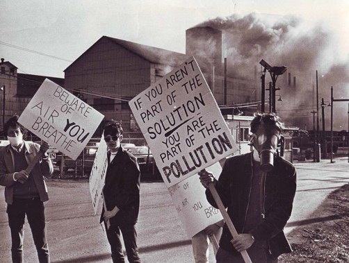 Protesters Carrying Earth Day Posters April 22, 1970 – Photo Credit: Doug Draper