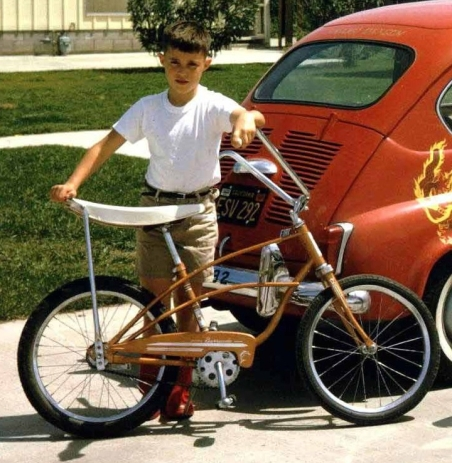 1965 with my trusty Sting-Ray bike used for my paper route and dawn patrol in PB.