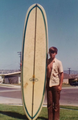 1970 in PB with my first surfboard